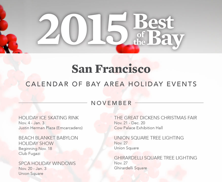 Sf Events Calendar.San Francisco Holiday Events Calendar Gabriella Fracchia San